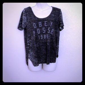 OBEY Distressed Tee
